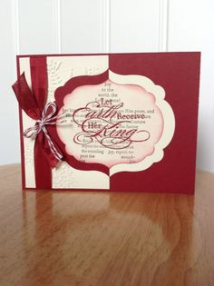 Stampin Up Christmas card  let earth receive her by treehouse05, $4.00 on Etsy