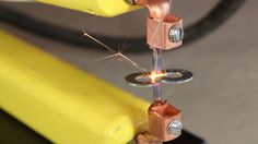 Learn how to make a spot welder , inexpensively with this tutorial. Useful for spot welding and to buy one would probably be upwards of 200 dollars. Metal Projects, Welding Projects, Homestead Survival, Survival Prepping, Cool Tools, Diy Tools, Spot Welding Machine, Spot Welder, Tig Welder