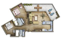 Floorplan modern apartment
