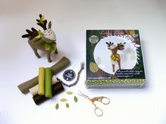 Woodland inspired felt Sewing kits provide all you need to  hand stitch a sweet decoration using 100% wool felt (yummo!)