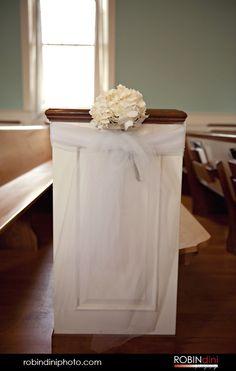 pew bows, wedding photography, hydrangea, flower