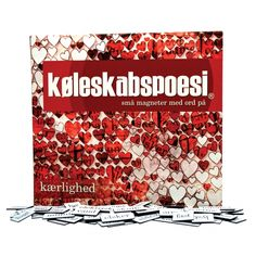køleskabspoesi med kærlighedsord på dansk. Læs mere om produktet på bloggen frubruun.dk