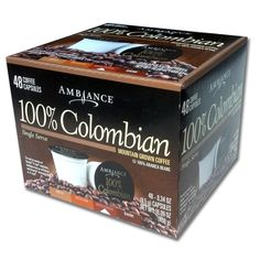 48 Ambiance K-Cup Keurig Capsules - 100% Arabica beans *** Click image to review more details.