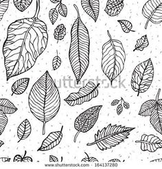 Seamless background with leaves. Abstract vector pattern.