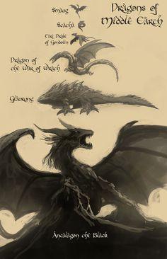 Dragons of Middle Earth by Raikoh-illust.deviantart.com on @DeviantArt