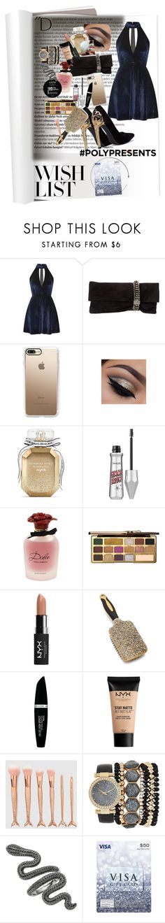 """#PolyPresents: Wish List"" by beck-bows-and-ribbons ❤ liked on Polyvore featuring Balmain, Oh My Love, Jimmy Choo, Casetify, Victoria's Secret, Dolce&Gabbana, Too Faced Cosmetics, NYX, Max Factor and Jessica Carlyle"