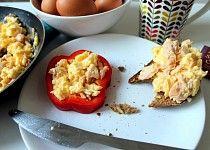 Míchaná vejce s lososem