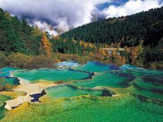 Huanglong natural preserve, Sichuan, China