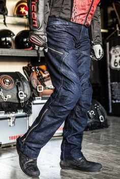 Motorcycle Riding Racing Trousers Pants Jeans Mesh D-Jeans Blue 005 #Unbranded