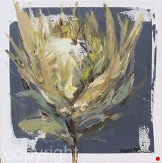 White King Protea 1 by Nicola Firth  ~ 40cm x 40cm