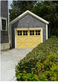 yellow and grey garage