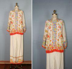 1920s silk pajamas / art deco / oriental by PrettyLittleWorldVtg, $248.00