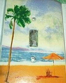 Tropical Beach Light Switch Cover - Switch Plates - Amazon.com #kids#wallcovering#wallpaper Beach Lighting, Switch Plates, Light Switch Covers, Dorm Room, Tropical, Room Decor, Amazon, Wallpaper, Kids