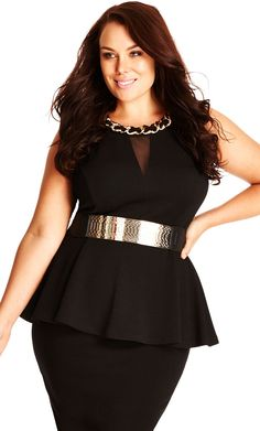 c7f6b769f47d8 City Chic Chain Peplum Top - Women s Plus Size Fashion City Chic - City Chic  Your