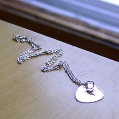 Silver chain necklace 16 inches long for by HarvestGoldJewelry, $20.00