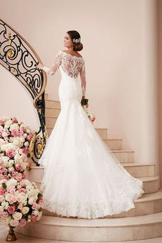 Hot Sale ,2017 Custom Lace Mermaid wedding dress,Off The Shoulder And Appliques wedding dress,Sexy See Through Wedding Dress - Thumbnail 1