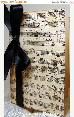 40 Music Notes Invitations with Envelopes/ Custom by craftypagan
