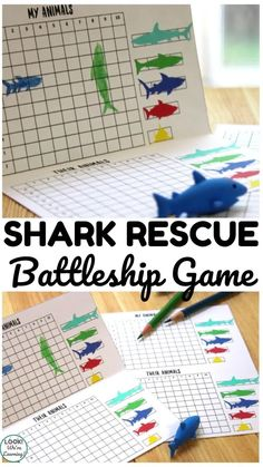 Shark Games For Kids, Games For Boys, Fun Activities For Kids, Ocean Activities, Family Game Night, Family Games, Ocean Games, Battleship Game, Animal Games