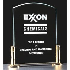"""Our Excellence Acrylic Award features an acrylic engraving area mounted on a gold-plated base with columns.  A1842 is 6""""x7"""" and comes with free personalized engraving."""