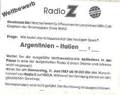 Yo me lo guiso.: Argentina ♥ Italia, amistoso Zurich 1987