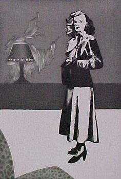 'Patricia Knight II', 1982 by Richard Hamilton United Kingdom) Black White Art, Black And White Drawing, Hamilton Painting, Pop Art Movement, Collage Artists, Graphic Illustration, Illustrations, Knight, The Incredibles