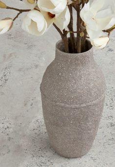 Elegant PAPERPULP Vase by Debbie Wijskamp. Read about her recycled paper art at the link.