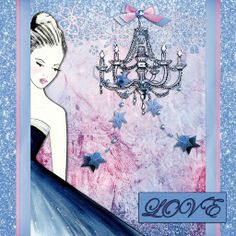 All That Glitters, a project by Algera Combining La Femme by Hearts Designs (Daisytrail) punches from CAP2, papers and elements from one of my kits to create this card idea x
