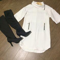 Dressbe | Vestido Zara Off White Zara #dress #zara #offwhite #moda #fashion #dressbe