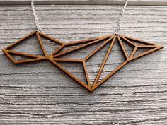 Lasercut geometric mdf necklace