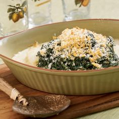 Cod-and-Creamed-Spinach Casserole Coastalliving.com