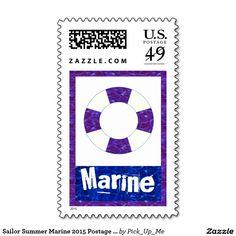 Sailor Summer Marine 2015 Postage Stamps