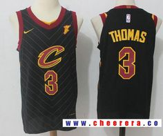 7fdcf1ef2 Men s Cleveland Cavaliers  3 Isaiah Thomas Black 2017-2018 Nike Swingman  Goodyear Stitched NBA