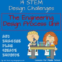 This unit teaches students about the Engineering Design Process through direct application of the process and various STEM principles in design challenges.  Also included in this bundle are 8 Lessons on Geometric Shapes, Transversals, and Angles to complement the Engineering Design Process Unit.