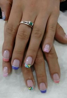 Corazon Nails, Beauty, Hearts, Finger Nails, Ongles, Beauty Illustration, Nail, Nail Manicure