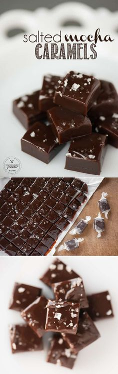 Soft and chewy old fashioned Salted Mocha Caramels made with rich chocolate and coffee powder are a tasty candy treat perfect for the holidays!