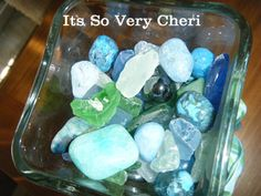 Make your own beach glass  Please double click the photo to visit my post at Its So Very cheri