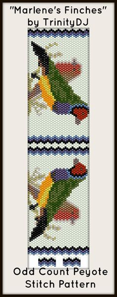 My friend and customer Marlene Sullivan asked for a pattern with some finches. This is what I came up with. So pleased she likes it.