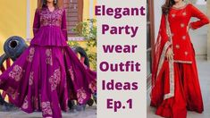 Party wear Outfit Ep1/ Elegant Party Wear Lehenga Suit Designs For Festi... Lehenga Suit, Party Wear Lehenga, Party Wear Indian Dresses, Wedding Season, Kurti, Festive, Elegant, Formal Dresses, How To Wear