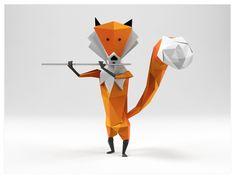 fun pipe playing fox.