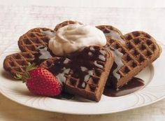 Try this Chocolate Dessert Waffles recipe, made with HERSHEY