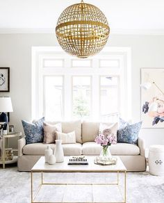 Clean classic living room