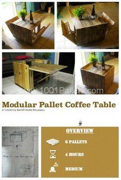 DIY Tutorial: Modular Pallet Coffee Table