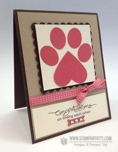 Stampin up stampinup stamp it catalog punch dog paw print card idea demonstrator