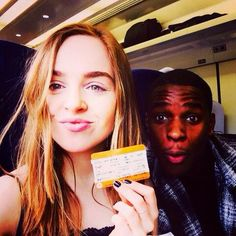 "Tweeted by Louisa: ""Me and @kedarwstirling have arrived in Newcastle for #WOLFBLOOD season 3! Who's as excited as us? #SHOM ""."