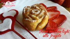 Rose muffins light alle fragole e cioccolato bianco (157 calorie l'una) | LeRicetteSuperLightDiGiovi