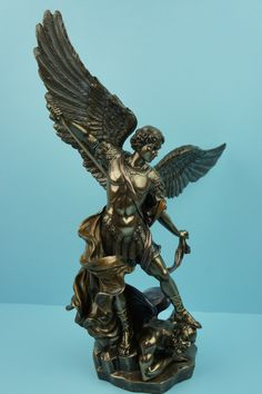 St Michael the Archangel Bronzed Resin Statue - 37.5cm/14 3/4""