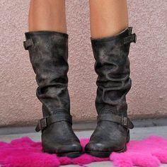 Slouchie Black Frye boots