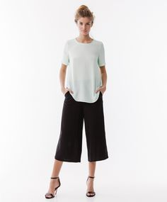 Black culottes with pastels of the spring | Gina Tricot New Arrivals | www.ginatricot.com | #ginatricot
