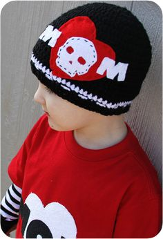 Tattoo inspired Boys Valentines Day Set  Hat by ashlynsbowtique, $32.00