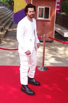 White Prom Suit, Varun Dhawan, Bonsai, Suits, Formal, Style, Fashion, Preppy, Swag